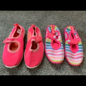 Two pair swim / water shoes
